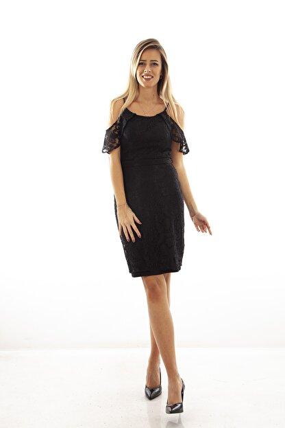 Ardanewline Kadın Siyah Elbise 130122-10