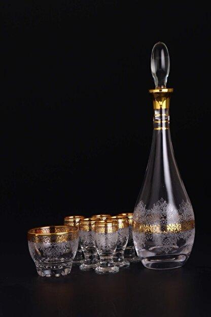 AbkaKristal 8 Parça Zemzem Takımı - Estel Altın