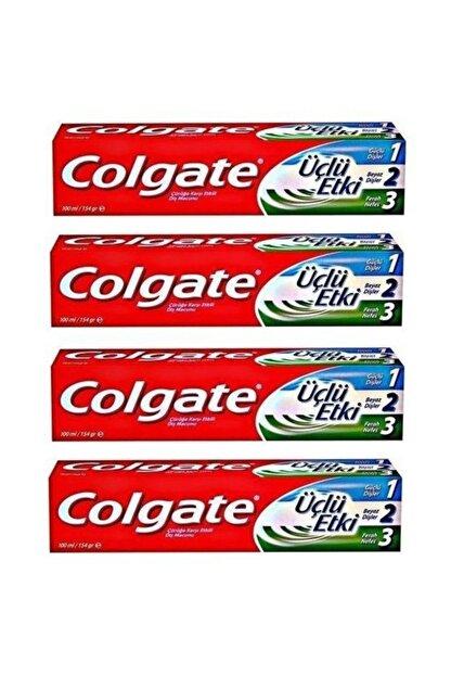 Colgate Üçlü Etki Diş Macunu 100 ml 4 lü