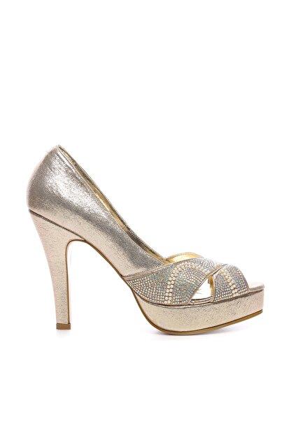 Kemal Tanca Sarı Kadın Vegan Klasik Topuklu Ayakkabı 592 2310 BN AYK