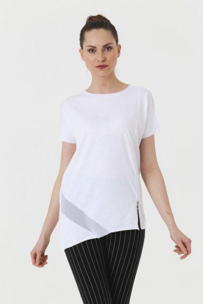 Jument Kadın Beyaz T-shirt 7095