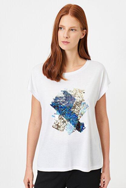 Koton Kadın Beyaz T-Shirt 0YAK13992EK