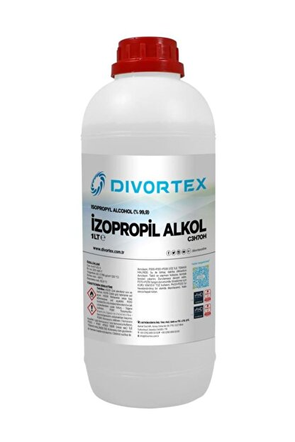 Divortex Ipa Izopropil Alkol C3h70h (% 99.9 Saflık) 1 lt