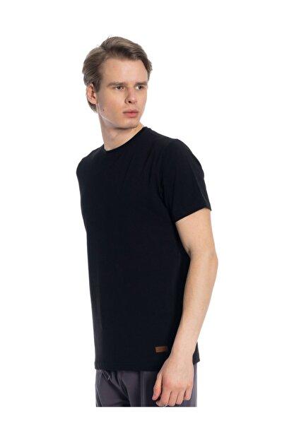 Slazenger Coby Erkek T-shirt Siyah St10te124