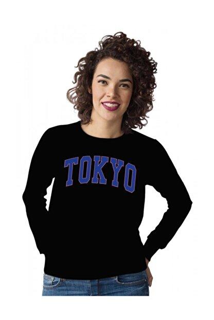 Angemiel Wear Mavi Renkli Tokyo Kadın Sweatshirt