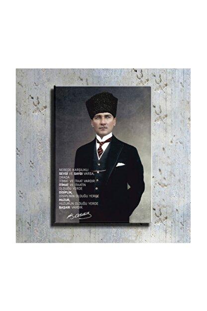 mağazacım Atatürk Takım Elbiseli Portre 50 Cm X 70 Cm Kanvas Tablo Tbl1194