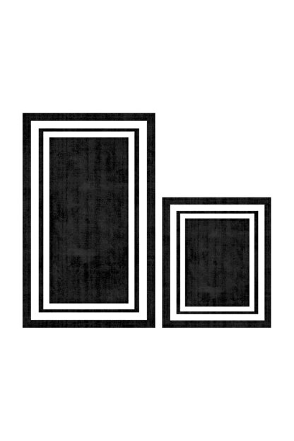 Soley Dijital Klas  2 Li Banyo Paspas Seti Klozet Takımı 0673 01