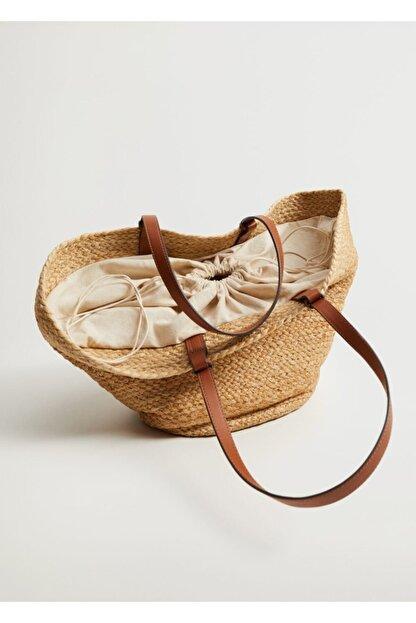 Mango Kadın Jüt Sepet Çanta