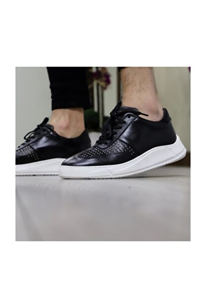 Tetri Erkek Siyah Deri Ayakkabı