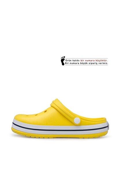 Akınalbella Sarı Şeritli Crocs Terlik