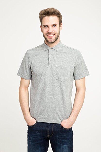 Kiğılı Erkek Gri Polo Yaka T-Shirt - Cdc01