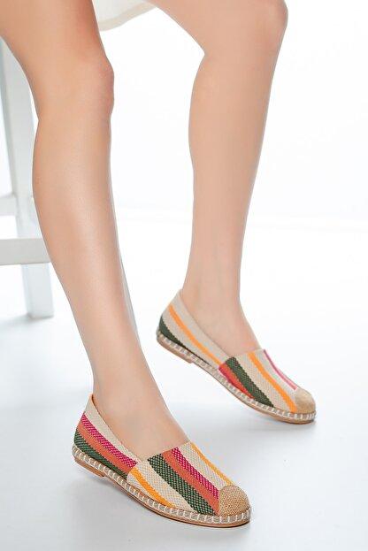 Moda Değirmeni Çok Renkli Kadın Babet Md1010-111-0001