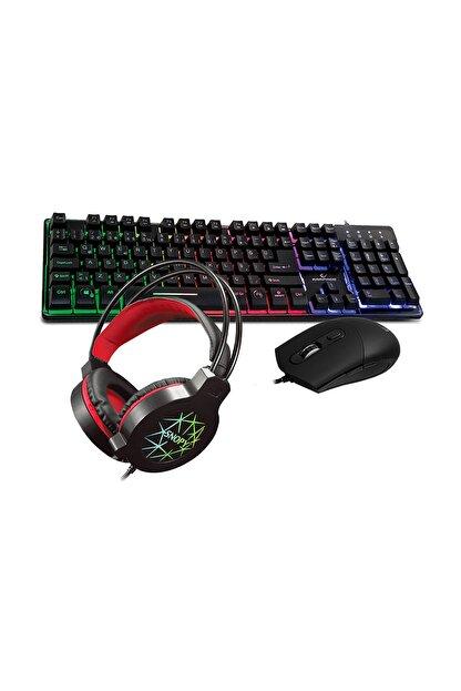 Rampage GM-X9 Işıklı Gamiing Klavye Mouse Kulaklık Set
