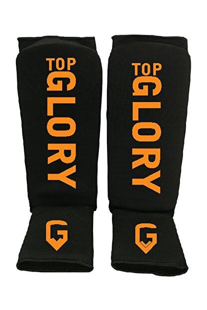 TOP GLORY Muay Thai Kick Boks, Mma Ayak Kaval Koruyucu Siyah Turuncu