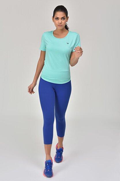 bilcee Turkuaz Kadın Sırt Detaylı Kadın T-Shirt GS-8110