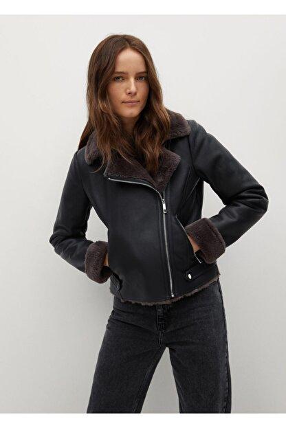 Mango Kadın Siyah Ceket