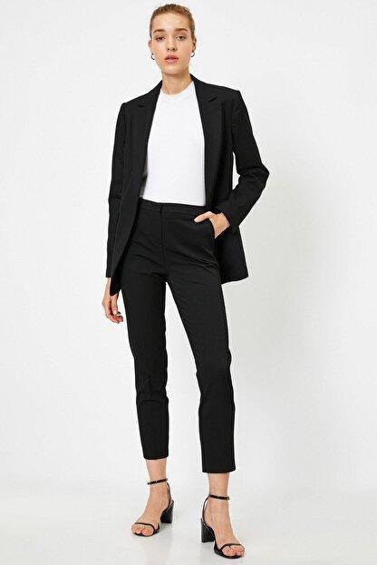 Koton 21kak42184rw Kadın Klasik Pantolon Siyah