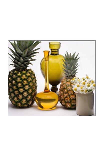PRATİK DEKOR Cam Ocak Arkası Koruyucu | Ananas Model