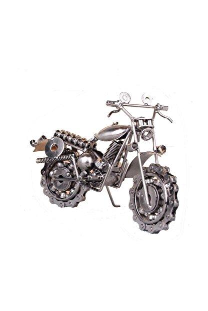 buyuk boy el yapimi metal motosiklet maketi