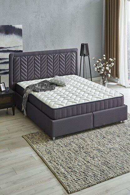 Yataş Wool Sense Set 3'lü Yatak Baza Başlık Set (kumaş - Marin)