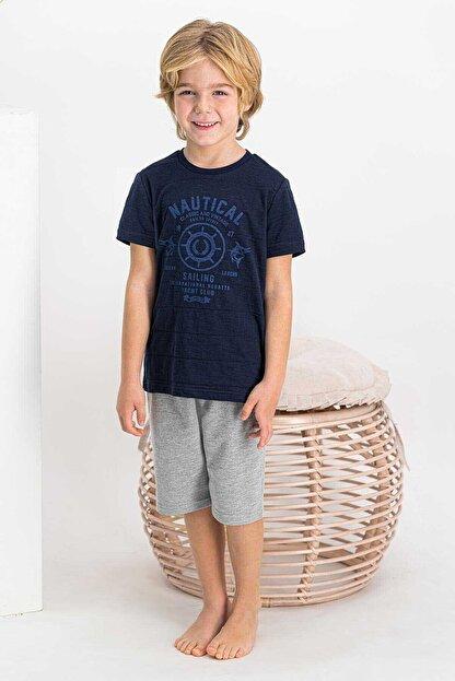 Arnetta Nautical Sailing Lacivert Erkek Çocuk Bermuda Takım