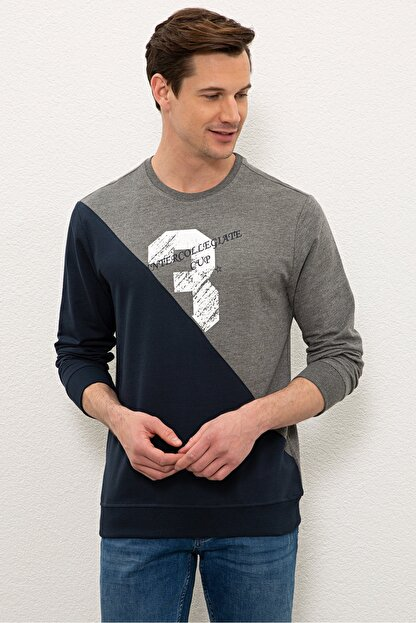 US Polo Assn Gri Erkek Sweatshirt G081SZ082.000.1219416