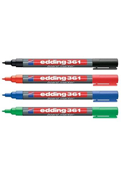 Edding 361 Beyaz Tahta Kalemi İnce Uçlu 4 Renk