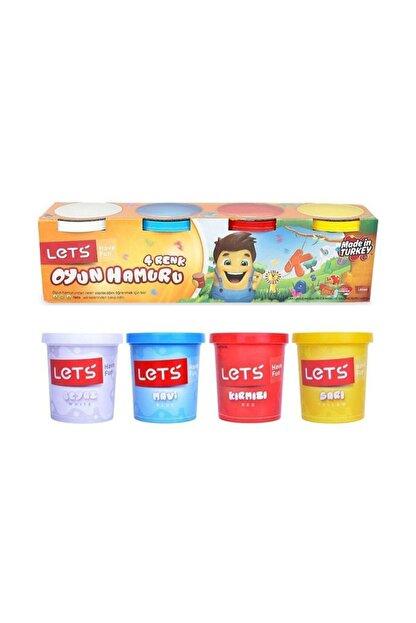 Toys Lets Oyun Hamuru Normal Renkler 4 Renk 600 G ( Kırtasiye)