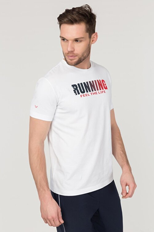 bilcee Beyaz Pamuklu Erkek  T-Shirt FS-1681 1