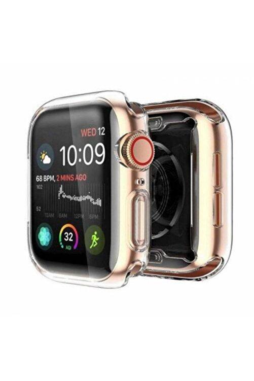 Gate Apple Watch 40 Mm Uyumlu Şeffaf Silikon Kılıf 40mm Watch Tam Koruma Koruyucu 1