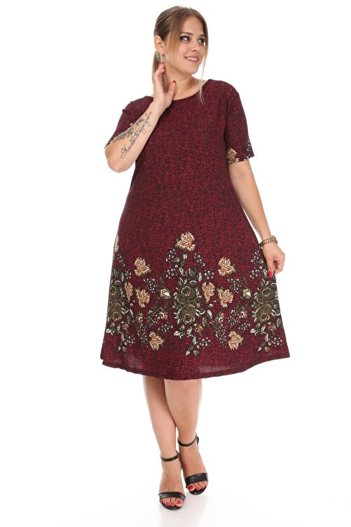 Alesia Çiçekli Kısa Kol Elbise 2
