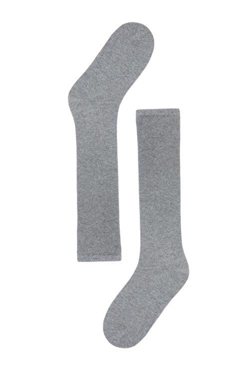 Katia&Bony Kadın Gri Melanj Family Dizaltı Basic Çorap 2