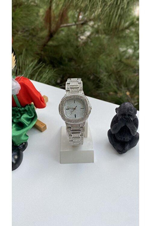 Spectrum Metal Kordonlu Taşlı Gümüş Renk Kadın Kol Saati 2