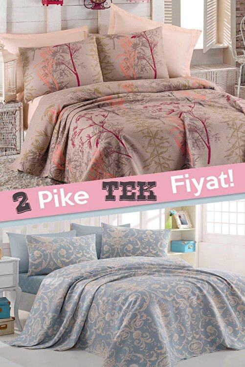Ev & Ev Home 2li Pike Çift Kişilik Urla + Tuval Mavi 1