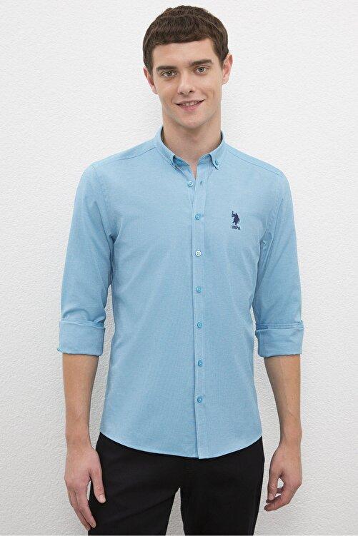 U.S. Polo Assn. Erkek Mavı Gömlek G081Gl004.000.1208586 1