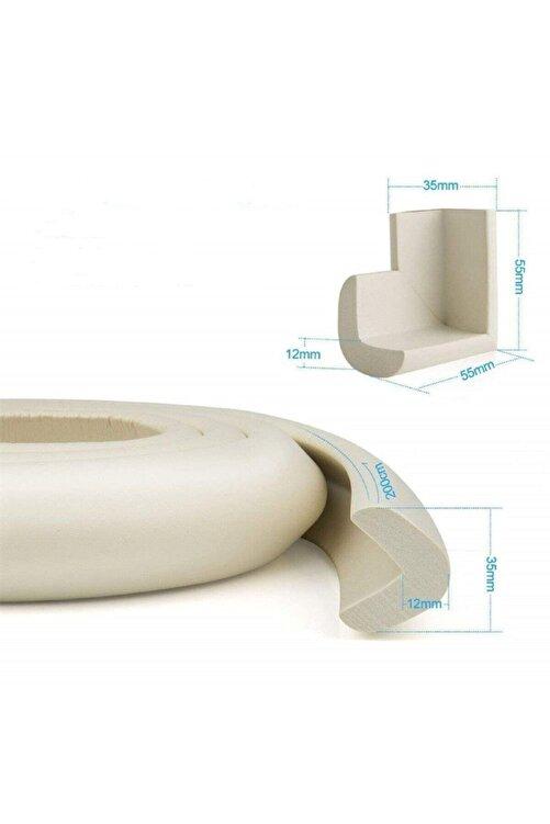 SolinpaTech Krem Rengi Kalın Kauçuk 2 Mt Bebek Çocuk Masa Sehpa Kenar Ve 4 Adet Köşe Darbe Koruma Güvenlik Seti 2