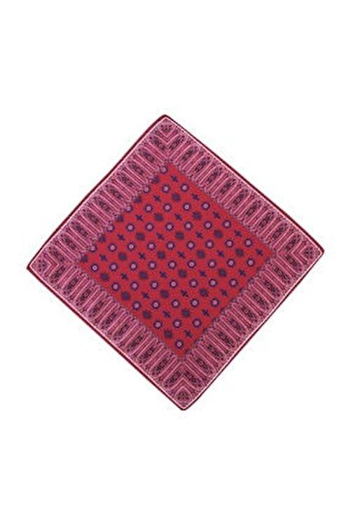 Kiğılı Erkek Kırmızı Kravat-Mendil Set - 67433 2