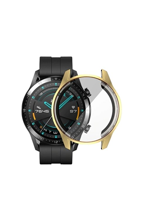 Ally Huawei Watch Gt 2 46mm 360 Koruma Ultra Ince Silikon Kılıf - Gold 2