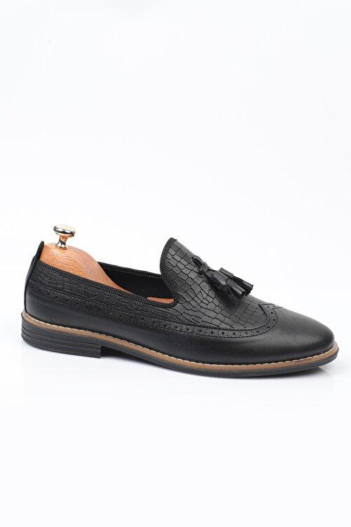 Daxtors Siyah D2020 Günlük Ortopedik Erkek Rok Ayakkabı  DXTRSROK2020 1