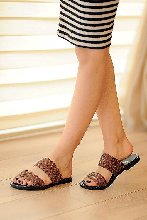 Pembe Potin Taba Kadın Sandalet A0100-20 1