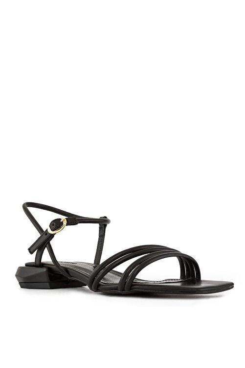 Sole Sisters Düz Siyah  Sandalet 2