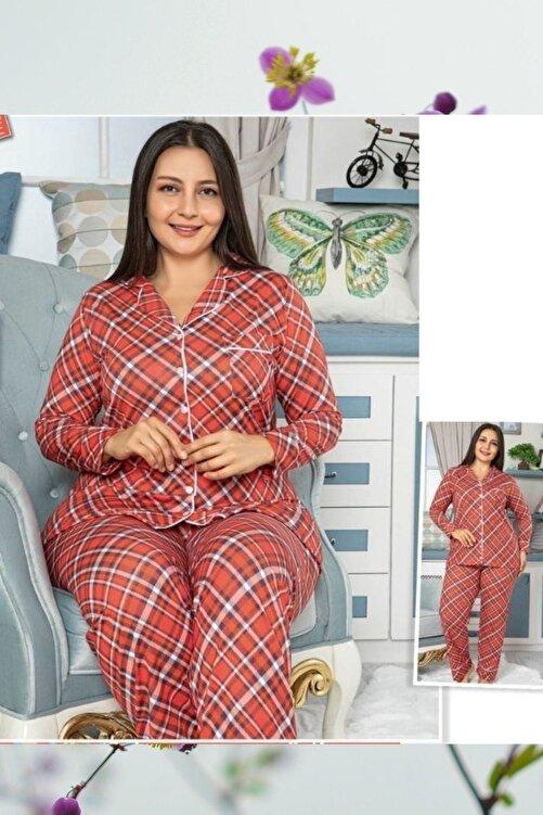 MASSİMO BAZAAR Düğmeli Battal Pijama Takım 1