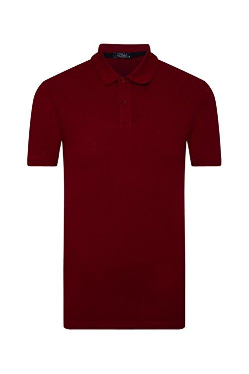 SÜVARİ Erkek Bol Kesim Polo Yaka Bordo Tişört 1