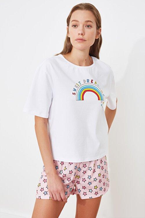 TRENDYOLMİLLA Baskılı Örme Pijama Takımı THMSS21PT0601 2
