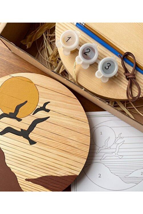 OSA Tutiwood Doğal Ahşap Boyama Kiti - Kuş Desenli Birds 1