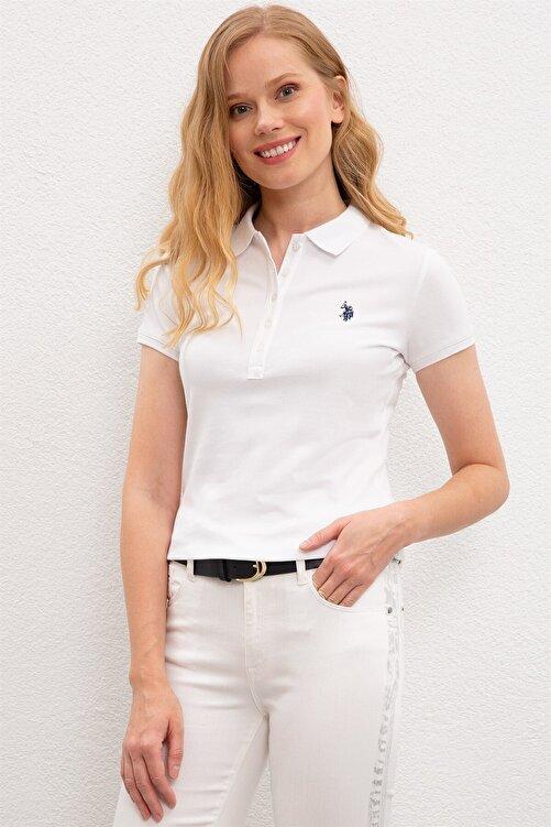 U.S. Polo Assn. Kadın Beyaz Polo T-shırt 1227451 1
