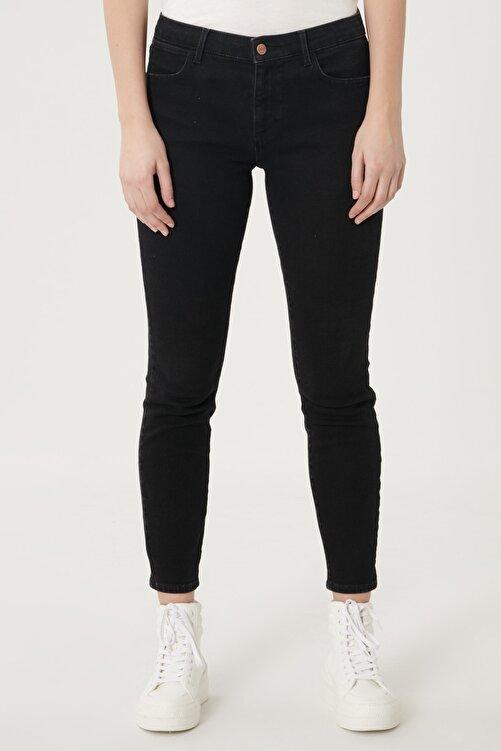 WRANGLER Kadın Antrasit High Rise Skinny Fit Denim Esnek Yüksek Bel Jean Kot Pantolon 2