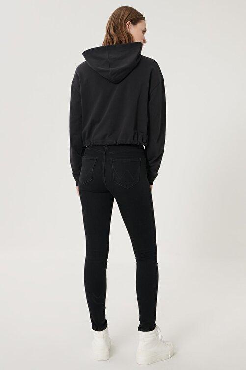 WRANGLER Kadın Siyah High Rise Skinny Fit Denim Esnek Yüksek Bel Jean Kot Pantolon 2