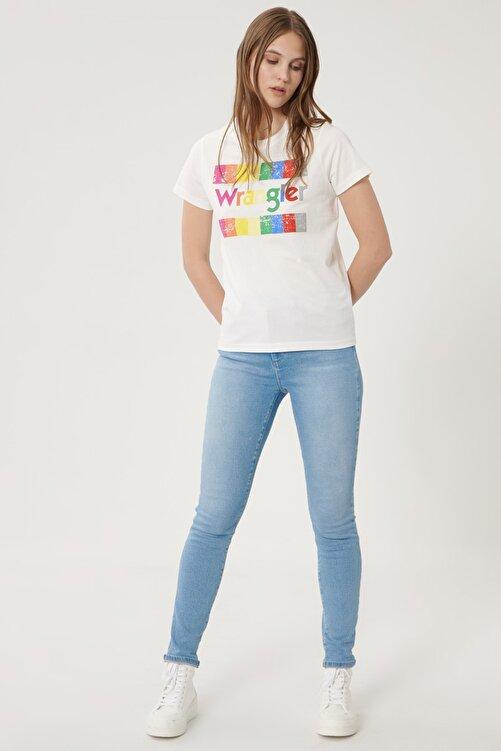 WRANGLER Kadın Açık Mavi High Rise Skinny Fit Denim Esnek Yüksek Bel Jean Kot Pantolon 1
