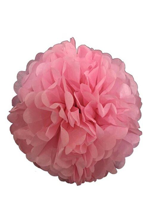 Balonpark 1 Adet Açık Pembe Ponpon Gramafon Çiçek Kağıt Doğum Günü Parti Süsü 1